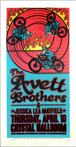 Avett Brothers Poster Original Signed Silkscreen by Gary Houston 2008