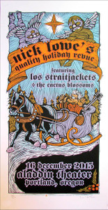 Nick Lowe's Quality Holiday Revue Poster Los Straitjackets Signed Gary Houston