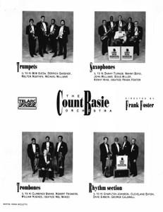 Count Basie Orchestra Original 8x10 b&w Glossy Press Photo Frank Foster