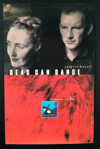 "Dead Can Dance 1996 Rare Genuine 4AD Promo Poster ""Spirit Chaser"" 18"" x 24"""
