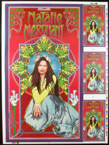 Natalie Merchant Fan Club Original Lithograph Uncut Proof Hand-Signed Bob Masse
