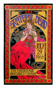 Grateful Dead Poster July 1966 New Record Store Day SN 150 Hand-Signed Bob Masse