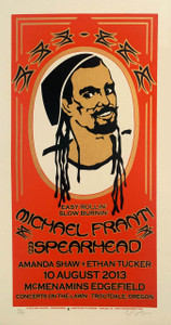 Michael Franti Poster Amanda Shaw 2013 Original SN 125 Signed Gary Houston