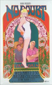 No Doubt Gwen Stefani Poster Nassau Coliseum 1997 Orig Printing Signed Bob Masse