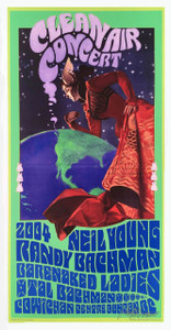 Neil Young Poster Randy Bachman Clean Air Concert Nice Reprint Signed Bob Masse