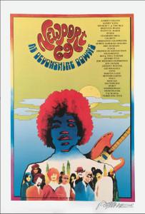 Newport '69 Pop Festival Poster Reprint Full Size Hendrix Tull Signed Bob Masse