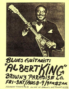 Albert King 8.5 x 11 Simple HANDBILL Brown's Paradise Lounge Sacramento 1978