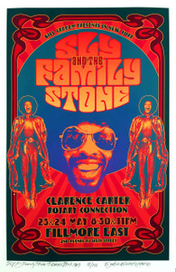 SLY and the Family Stone Poster Historic Fillmore East Honorific S/N David Byrd