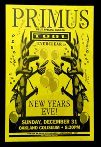 Primus Original Poster Pole Flyer Beaverbrooks Sacramento 1984