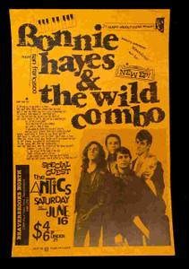 Bonnie Hayes & Wild Combo 1984 Original Poster 11x17 Beaverbrooks Sacramento