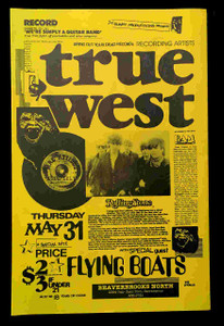 "True West Flying Boats 1984 Original Poster 11"" x 17"" Beaverbrooks Sacramento"