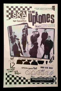 Uptones Original Poster Pole Flyer Beaverbrooks Sacramento 1983