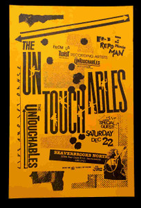 Untouchables Original 1984 11 x 17 Poster Beaverbrooks Sacramento Repo Man