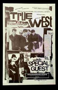 "True West Original 1983 Poster 11"" x 17"" Beaverbrooks Sacramento Russ Tolman"