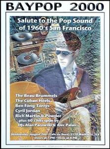 Beau Brummels Concert Poster 100 Created & Signed by Beau Brummel Ron Elliott
