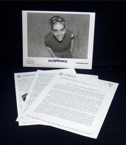 ANI DIFRANCO Original PRESS KIT w 8x10 Press Photo Living in Clip 1997
