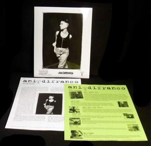 ANI DIFRANCO Original 1995 PRESS KIT w 8x10 Photo Not a Pretty Girl
