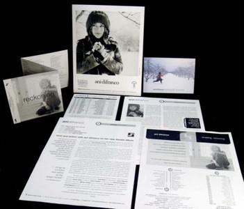 ANI DIFRANCO Original Press Kit w Photo Postcard Reckoning Revelling 2001