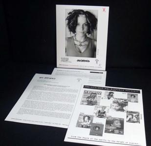 ANI DIFRANCO Original PRESS KIT 8x10 Press Photo UP UP UP UP UP UP 1999
