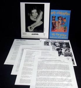 ANI DIFRANCO PRESS KIT 8x10 Glossy Photo Rare Postcard Little Plastic Castle