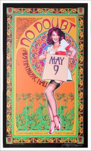 No Doubt Gwen Stefani Poster Austin Music Hall 2009 New Giclee Signed Bob Masse