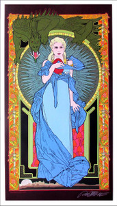Mother of Dragons Poster Fine Art Giclee Print Signed Bob Masse Art Nouveau Mint