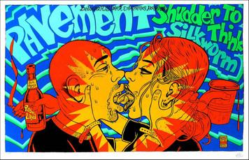 Pavement Poster at Roseland May 1997 Original Signed Silkscreen by Ward Sutton