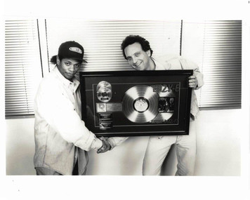 Eazy-E Gets Double Platinum Award for Easy-Duz-It Original Photo & Press Release