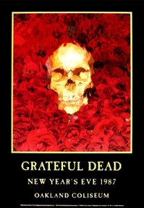Grateful Dead Poster Artrock Series PCL07B New Years Eve 1987 Oakland