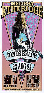 Melissa Etheridge Poster Jones Beach 1996 Signed Silkscreen Mark Arminski