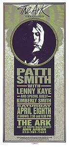 Patti Smith, Lenny Kaye 1995 Original Signed Silkscreen by Mark Arminski