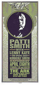 Patti Smith, Lenny Kaye 1995 Original Signed Silkscreen by Mark Arminski