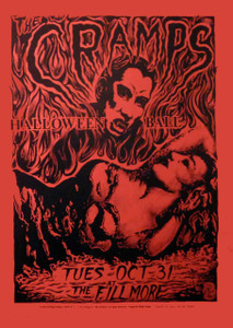 Cramps Halloween Ball By Philip Cooper Fillmore Auditorium 1989 Red Paper