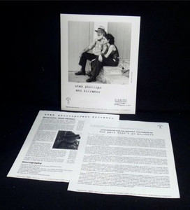 ANI DIFRANCO UTAH PHILLIPS PRESS KIT w Photo The Past Didn't Go Anywhere