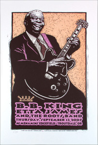 BB King Etta James Poster Original Signed Silkscreen by Gary Houston