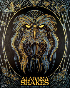 Alabama Shakes Poster Taos NM 2016 Metallic Variant S/N 50 Signed by Todd Slater