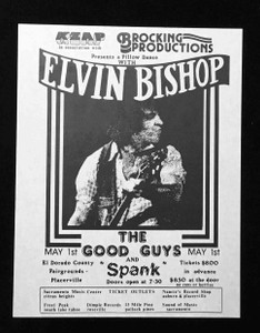 ELVIN BISHOP Rare Handbill El Dorado County Fairgrounds Placerville circa '70s