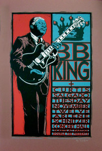 BB King Poster Curtis Salgado Original Signed Silkscreen by Gary Houston