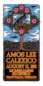 Amos Lee Poster Calexico McMenamins 2011 Signed Silkscreen Gary Houston S/N/COA