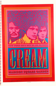 Cream Madison Square Garden Original Show Poster Proof Signed by Van Hamersveld
