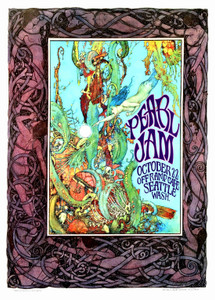Pearl Jam Fan Poster Honors 1st Show Off Ramp Cafe Seattle '90 Signed Bob Masse