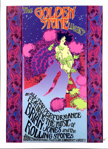 Brian Jones Poster The Golden Rolling Stone Years Hurtwood Park Polo Club Surrey