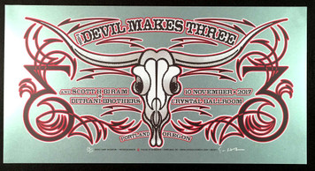 The Devil Makes Three Poster Portland 2017 Orig Silkscreen SN110 by Gary Houston