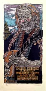 Willie Nelson & Family Poster Alison Krauss Silkscreen Gary Houston S/N/ COA