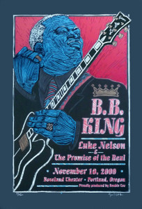 BB King Roseland Poster Original Signed Silkscreen by Gary Houston