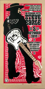 An Evening with Steve Earle Poster Haight St Art SF Signed Gary Houston 2017 COA