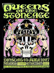 Queens of the Stone Age Poster Paradiso Amsterdam 2007 Signed Litho Alan Forbes