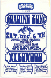 Loading Zone Handbill Wildwood Calaveras County Fairgrounds Angel's Camp 1969