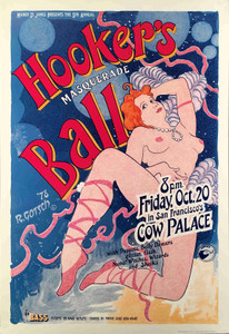 Hooker's Ball Poster Original 1978 Margo St. James Cow Palace Robert Gotsch Mint
