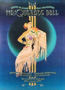 Hooker's Masquerade Ball Poster Original 1979 Hollywood New York San Fran Tuten